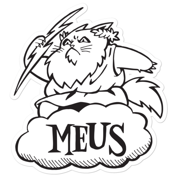 Meus Sticker Large Cats Novelty Gifts