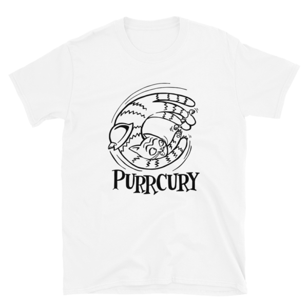 Purrcury White T-shirt Cats Graphics Gifts